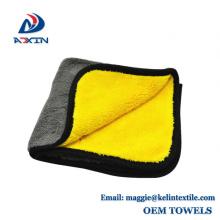 Pantalla de limpieza doble del uso del paño de la microfibra de los 40x40cm 600gsm para el coche