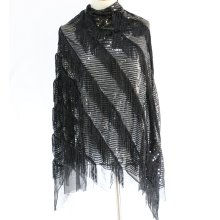 Black Tassel Sequin Embroidery Fabric