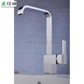 Fashion Design Oblate Spout Kitchen Sink Water Mixer Faucet (QH0718)