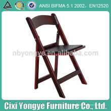 Chaise pliante rembourrée en acajou Chaise pliante classique américaine