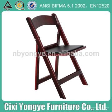Мягкий складной стул из красного дерева
