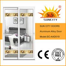 Puertas de vidrio de aluminio comerciales clásicas