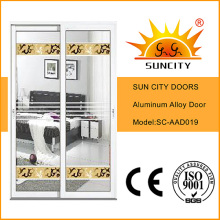 Подгонянные стеклянные конструкции алюминиевые раздвижные двери Цена (СК-AAD019)