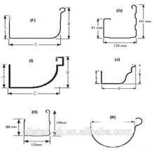 agua de lluvia canal embutición máquina formadora de rollos de canalón aluminio/máquina