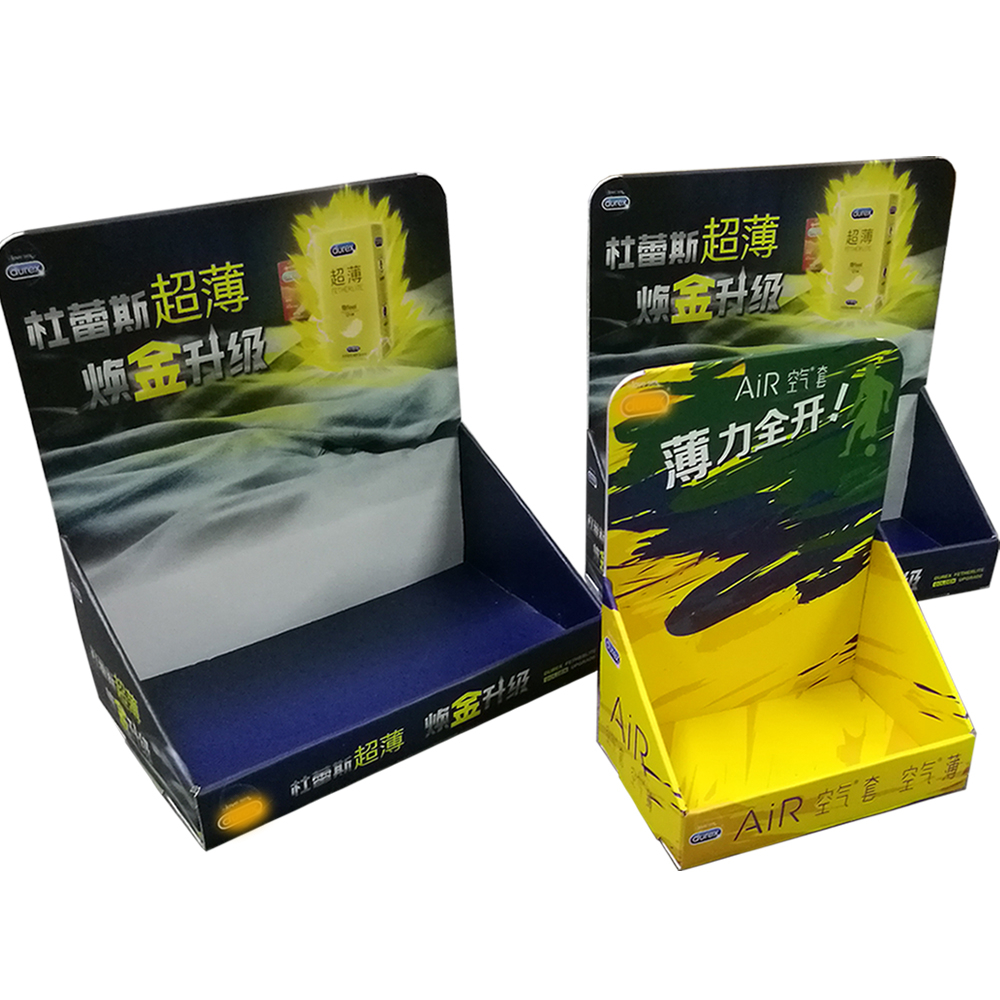 Supermarket Retail Display Foldable Paper Box Shelf