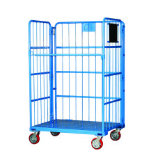 Foldable Steel Warehouse Storage Rolling Container Cage