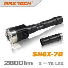 Maxtoch SN6X-7B 18650 2800LM 3 * CREE brillante LED Cree antorcha