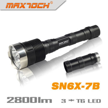Maxtoch SN6X-7 b 18650 2800LM 3 * CREE LED militaire torche