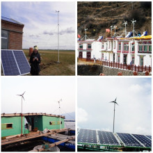 Sistema de turbina de viento para área remota