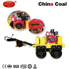 Le moteur d'essence de Zm-50 marchent derrière le compacteur vibrant manuel de rouleau