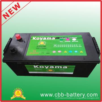 Bateria de armazenamento de carro de ácido de chumbo livre para manutenção 12V170ah (67018MF)