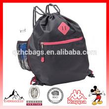 Мешки drawstring нейлона Спортивная спортивная сумка с держателем бутылки
