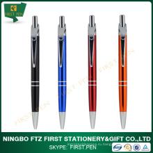 Металлическая шариковая ручка с названием компании