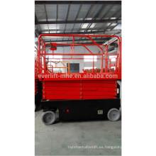 Plataforma de trabajo eléctrica completa de tijera plataforma de trabajo plataforma de elevación levantadores autopropulsados con CE