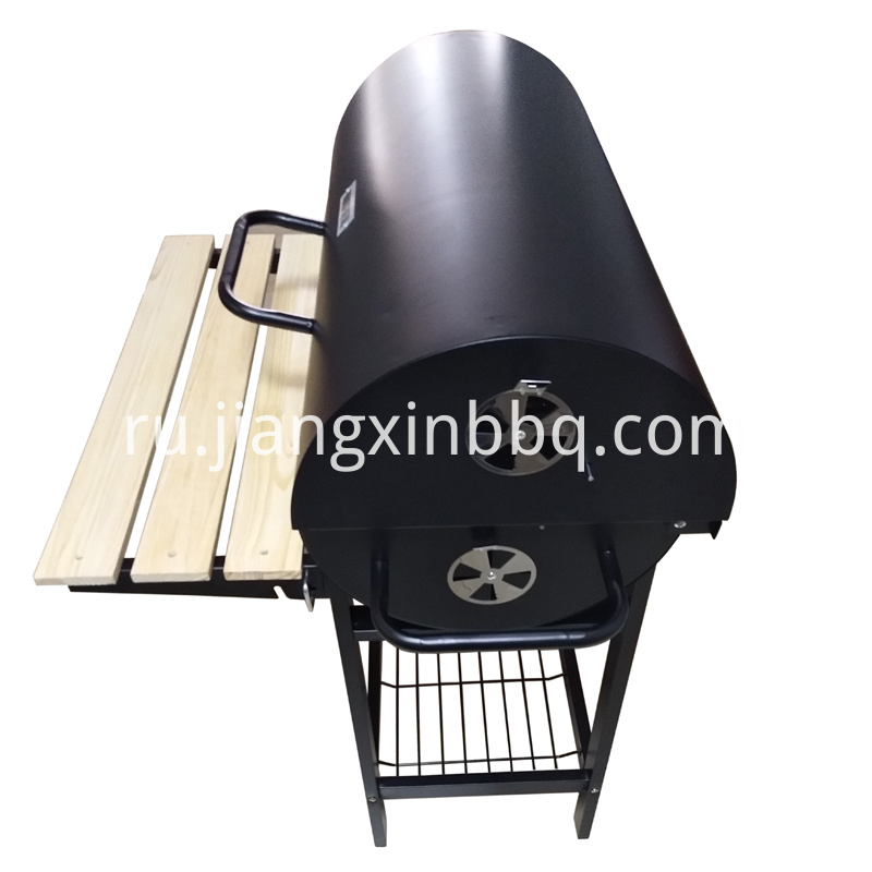 Oil Drum Charcoal BBQ Side View
