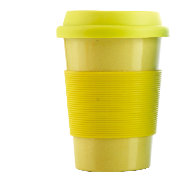 Bamboo Fiber Coffee Cup with Silicone Cover