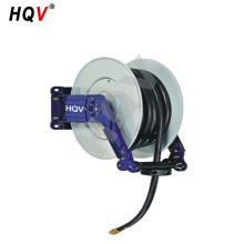 "A18 steel Retractable Air Compressor Water Hose Reel with 1/4"" x 50ft rubber hose"
