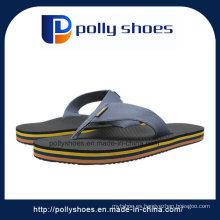 Zapatillas de playa plana de cuero para hombres