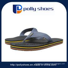 Кожа плоские пляжные тапочки Мужчины обуви флип-флоп