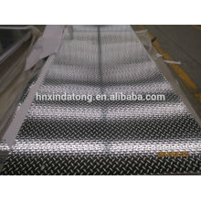plaque de bande de roulement cinq barres en aluminium 3003 5052 5754
