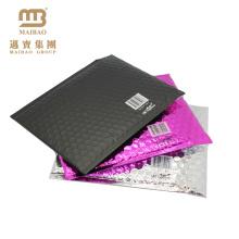 Selbstklebende Dichtung Kundenspezifische Farbe Gedruckte Aluminiumfolie Gepolsterte Versandtasche Versand Metallic Matte Black Bubble Umschläge