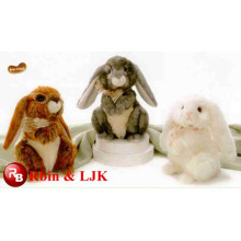 OEM soft ICTI plush toy factory long legs rabbit plush toy