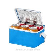 Bolso barato no tejido promocional del refrigerador de 6 paquetes