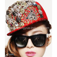 أزياء اﻷكريليك ارتفعت برشام المجهزة كاب قبعة