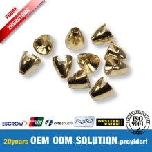 Cuentas de cono de tungsteno chapadas en oro