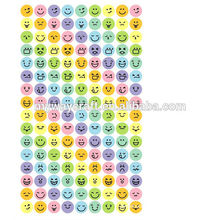cute expression round plain color sticker