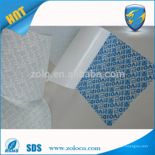 White Art paper anti-counterfeiting tamper evident VOID label printing material