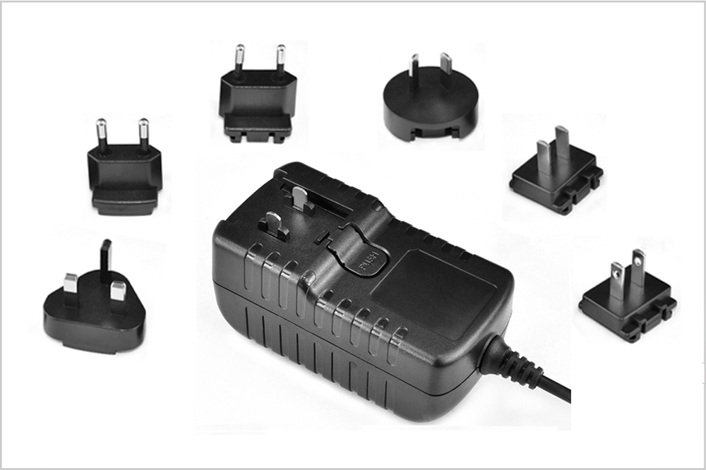6v0 5a Wall Power Adapter With Interchangeable Plugs