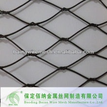 hand woven stainless steel wire rope mesh net with furruled and knotted rope mesh