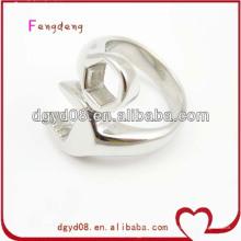 Wholesale new design stainless steel spanner ring for men