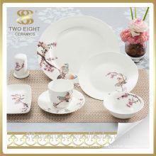 Wholesale english china dinnerware set, floral dinnerware