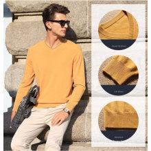 Men′s Cashmere Sweater with V Neck (13brdm006-1)