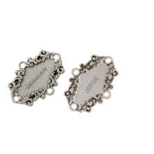 Oval Silver Tone Message Pattern Garment Accessories Zinc Metal Alloy Leather Badge