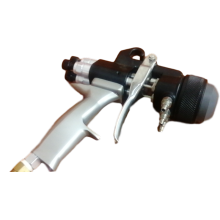 three nozzle  head chrome paint spray gun