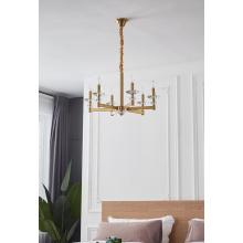 Nuevo candelabro de hierro minimalista de decoración moderna