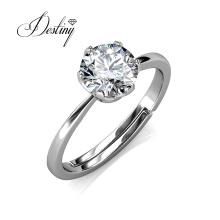 925 Sterling Silver 6.5mm Moissanite Diamond Wedding Eternity Ring for Women