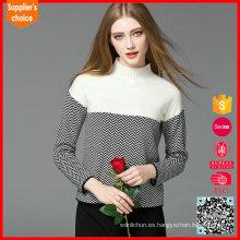 Suéter de la mujer del punto de fábrica de la fábrica, diseño del suéter de las lanas para las mujeres