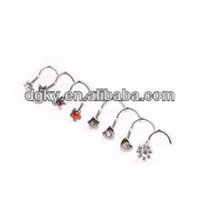 Personalizado nariz studs jóias indian nariz anel