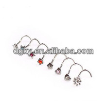 Индивидуальные носовые штифты ювелирные изделия индийского кольца носа
