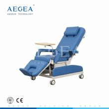 AG-XD205 cor azul hospital manual paciente doação de sangue cadeira