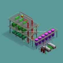 Princípios de finalidade da capacidade de destilação de petróleo bruto