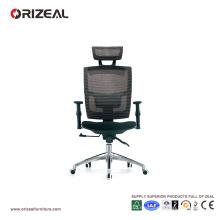 Silla ejecutiva ergonómica de malla negra Orizeal con soporte lumbar (OZ-OCM005A)