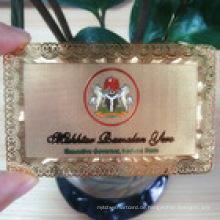 Aulminium Geschenkkarte