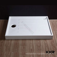 Bandeja de pedra do chuveiro do banheiro da superfície do sólido acrílico, placa do chuveiro