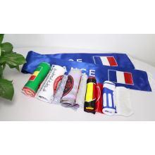 Custom Brasil flag scarf printed silk polyester scarves football soccer fans scarf