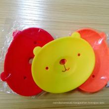 Cute Cartoon Bear Silicone Dish Mat Box Holder for Soap